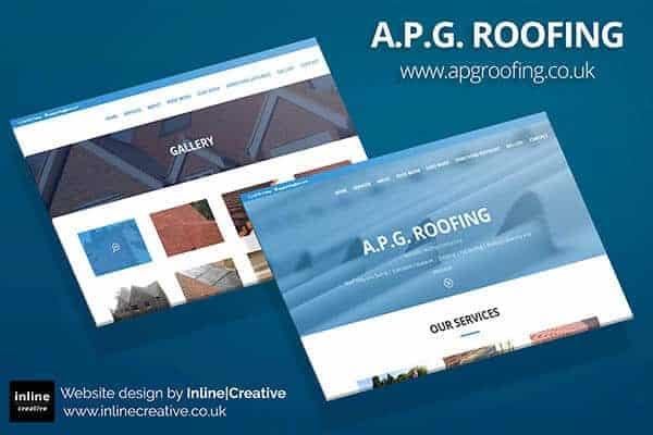 Web Design Mockup APG Roofing