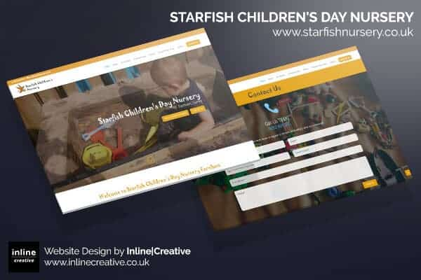 Web Design Mockup Starfish Children's Day Nursery