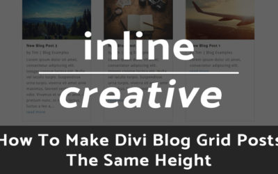 How To Make Divi Blog Grid Posts The Same Height
