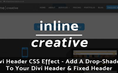 Divi Header CSS Effect – Add A Drop-Shadow To Your Divi Header & Fixed Header