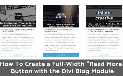 "How To Create a Full-Width ""Read More"" Button with the Divi Blog Module"