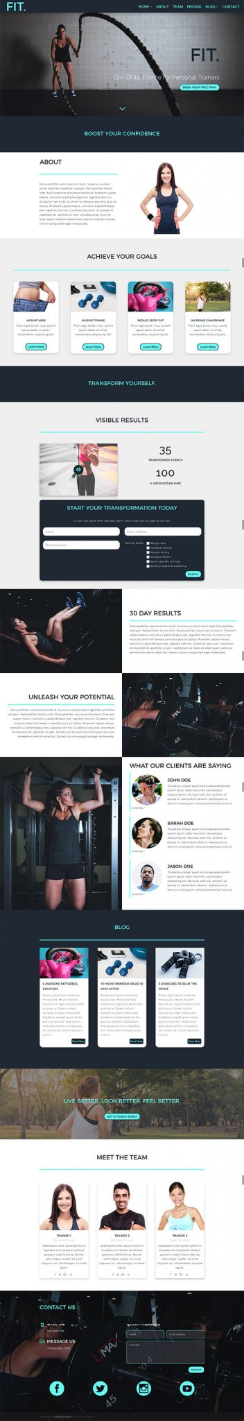 Fit - Divi Child Theme for Personal Trainers