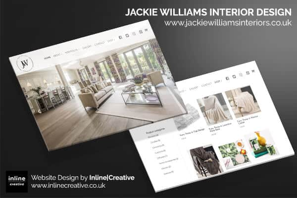 jackie williams interior design website portfolio project