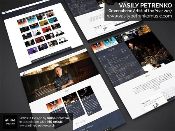 vasily petrenko website design